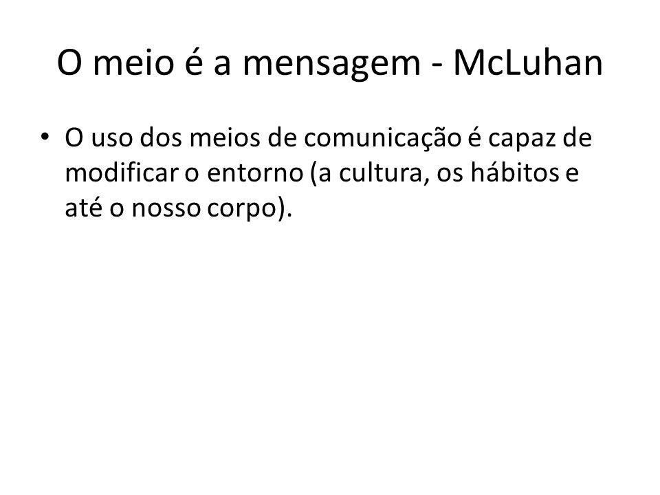 O meio é a mensagem - McLuhan