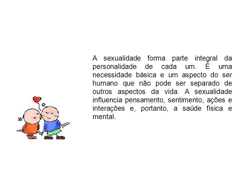 A sexualidade forma parte integral da personalidade de cada um