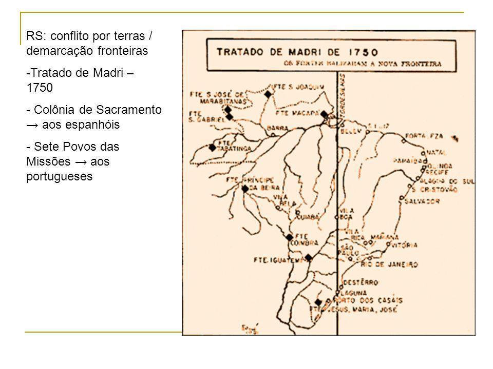 RS: conflito por terras / demarcação fronteiras