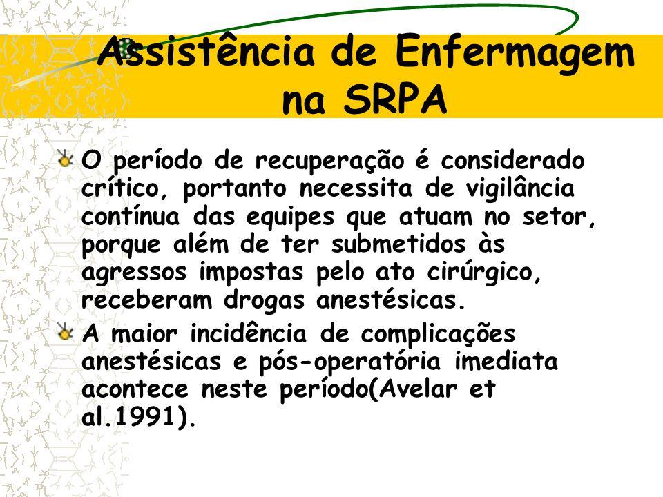 Assistência de Enfermagem na SRPA