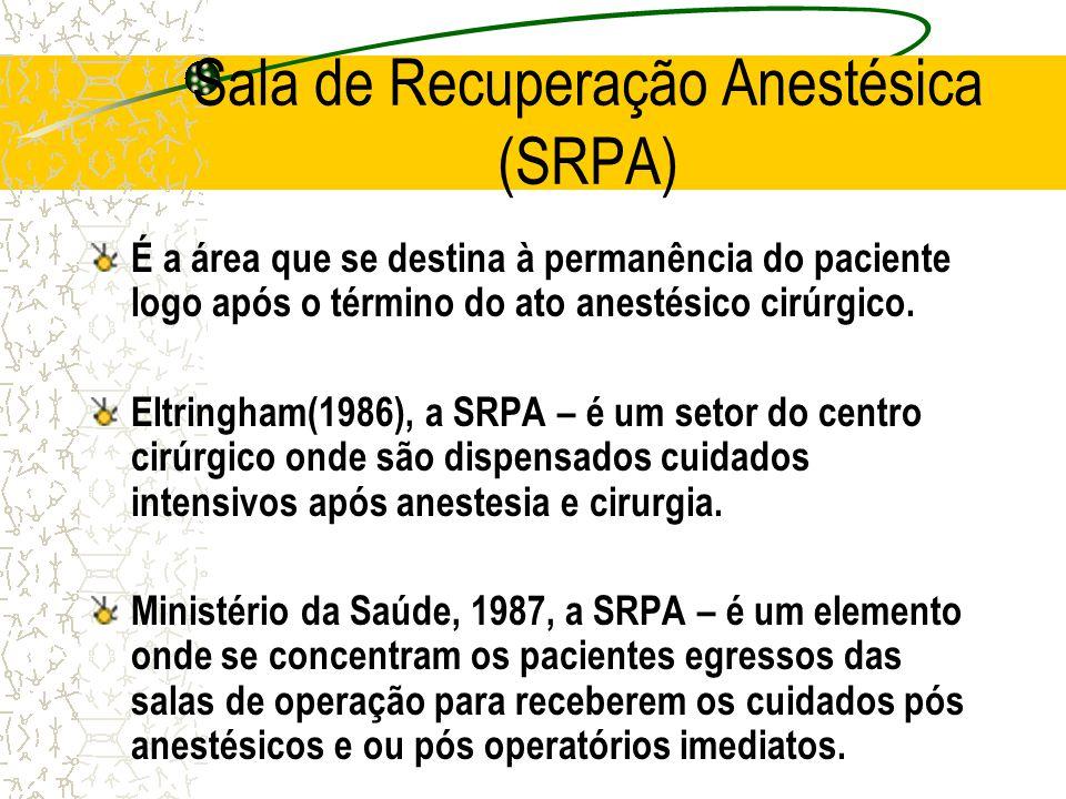 Sala de Recuperação Anestésica (SRPA)