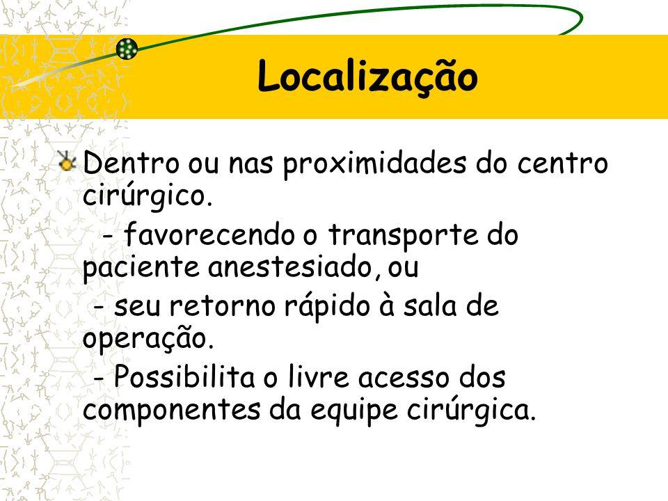 Localização Dentro ou nas proximidades do centro cirúrgico.