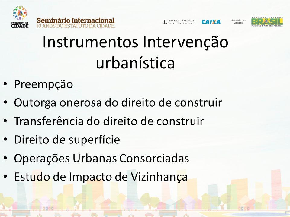 Instrumentos Intervenção urbanística