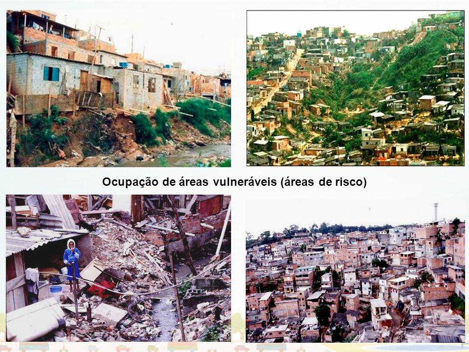 Ocupação de áreas vulneráveis (áreas de risco)