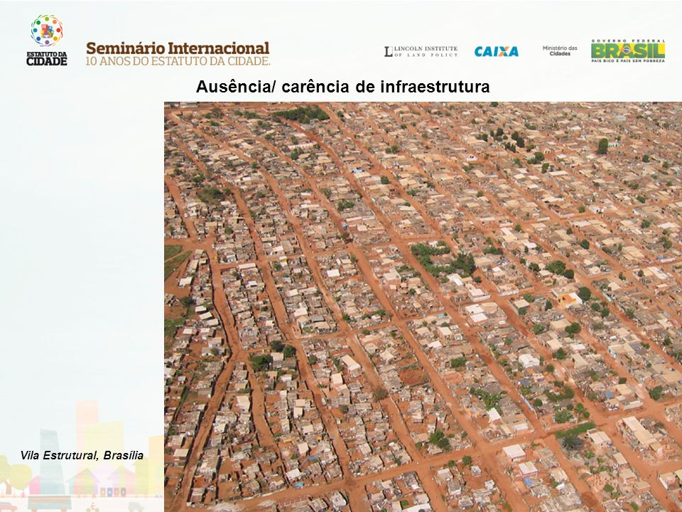 Ausência/ carência de infraestrutura Vila Estrutural, Brasília