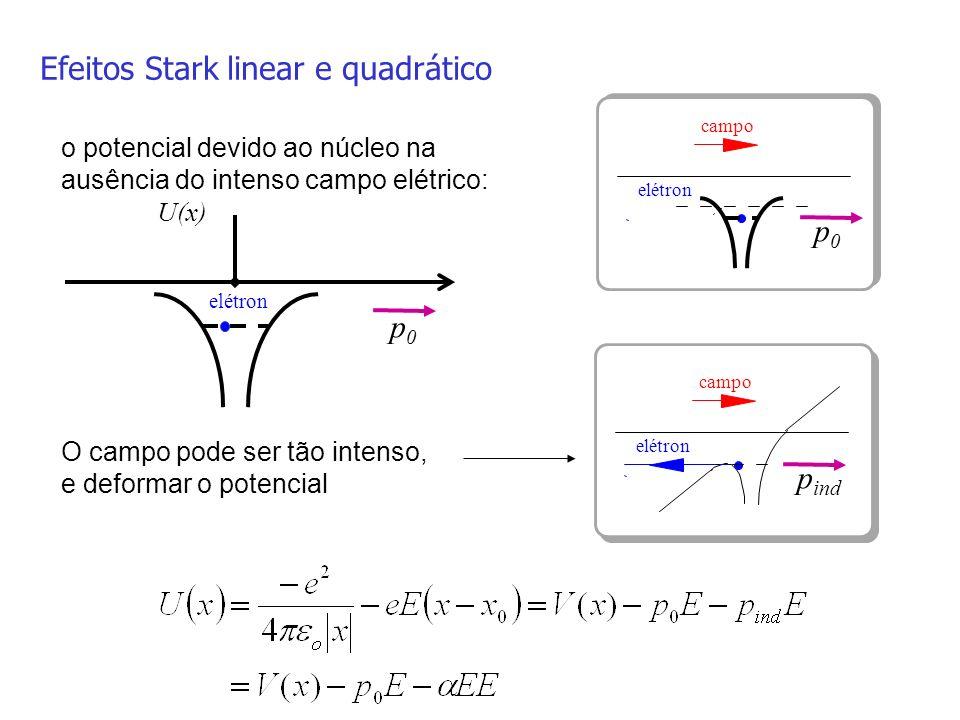 Efeitos Stark linear e quadrático