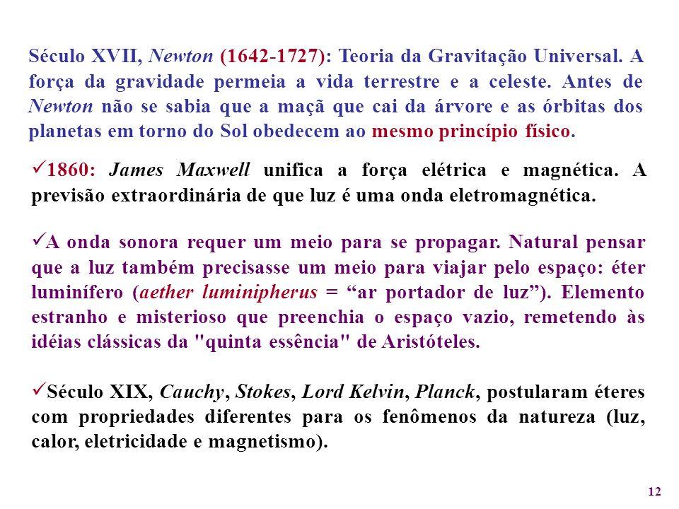 Século XVII, Newton (1642-1727): Teoria da Gravitação Universal