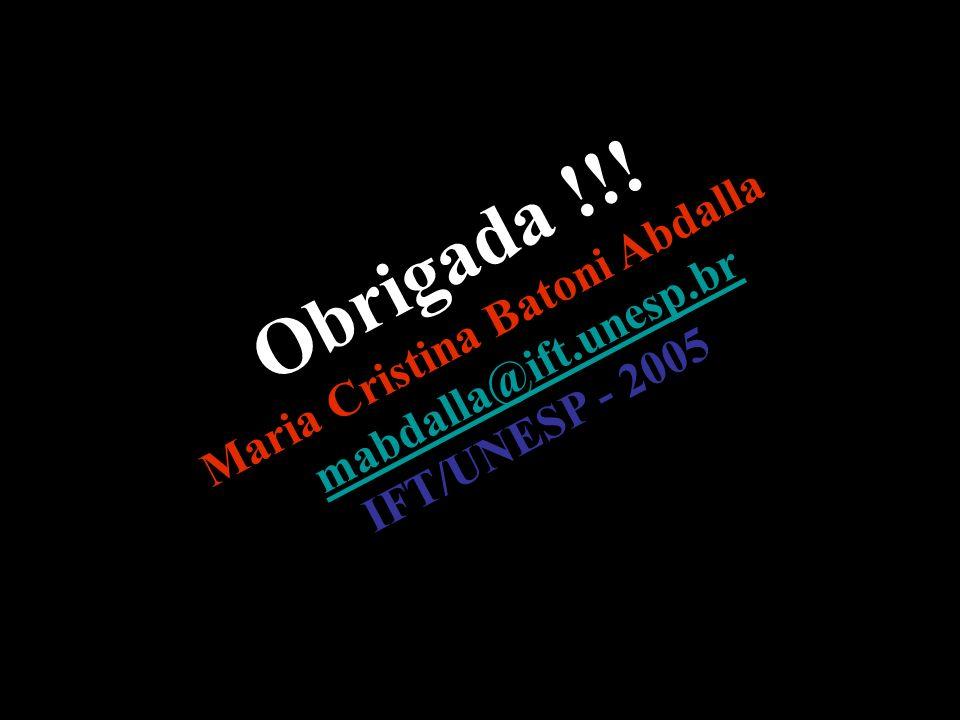 Maria Cristina Batoni Abdalla mabdalla@ift.unesp.br