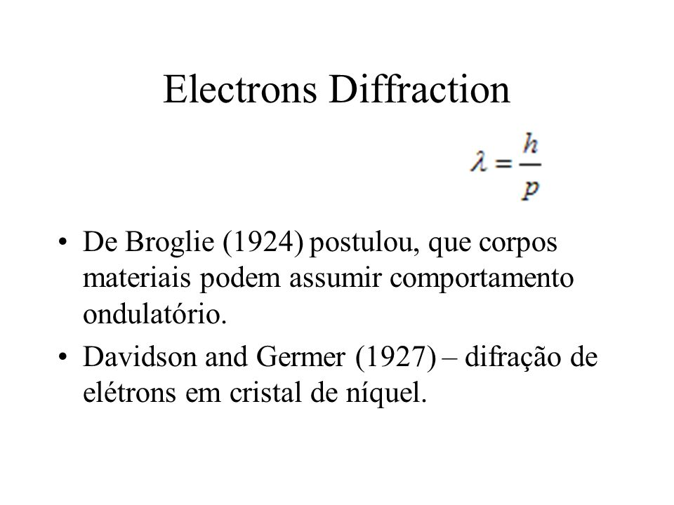 Electrons Diffraction