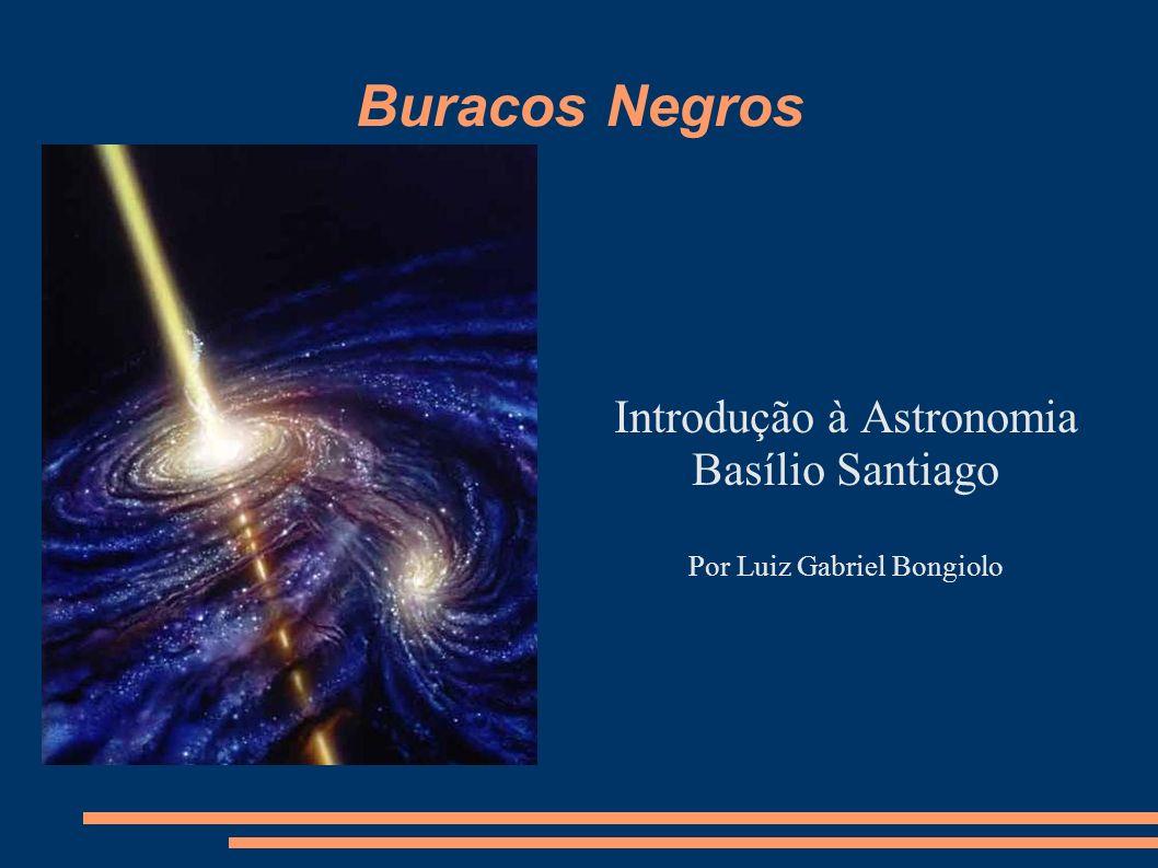 Buracos Negros Introdução à Astronomia Basílio Santiago