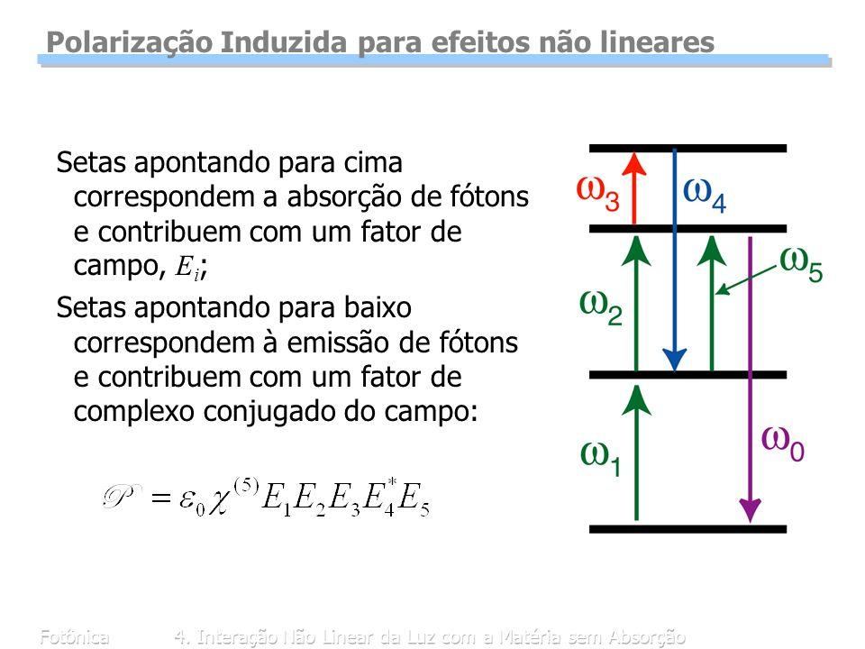 Polarização Induzida para efeitos não lineares