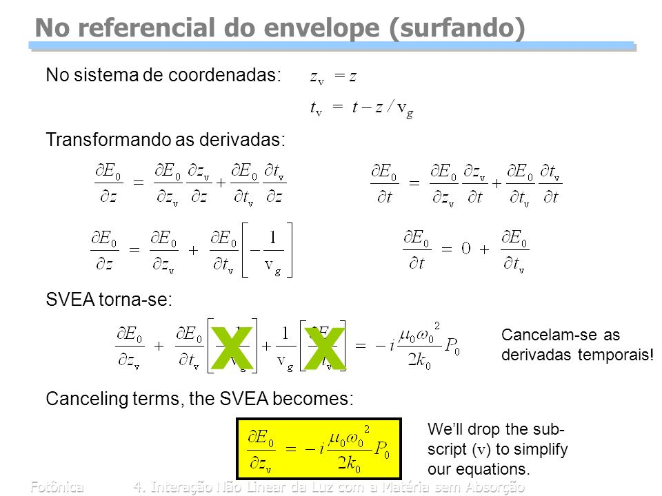 No referencial do envelope (surfando)