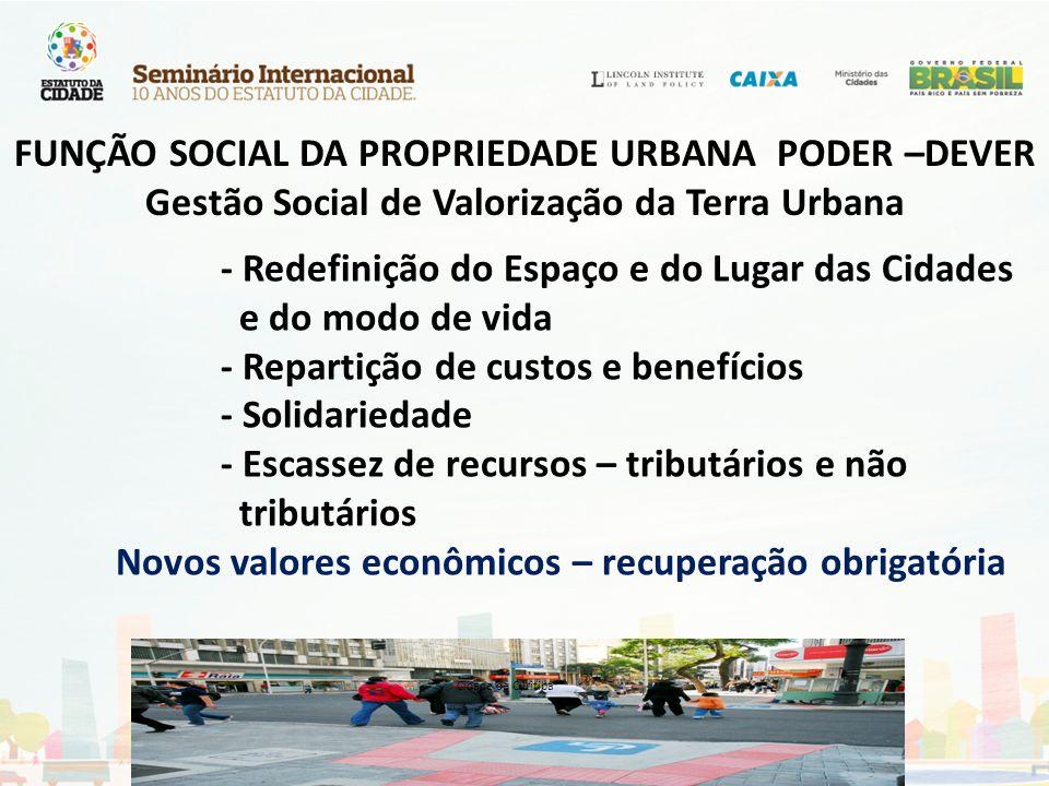 FUNÇÃO SOCIAL DA PROPRIEDADE URBANA PODER –DEVER