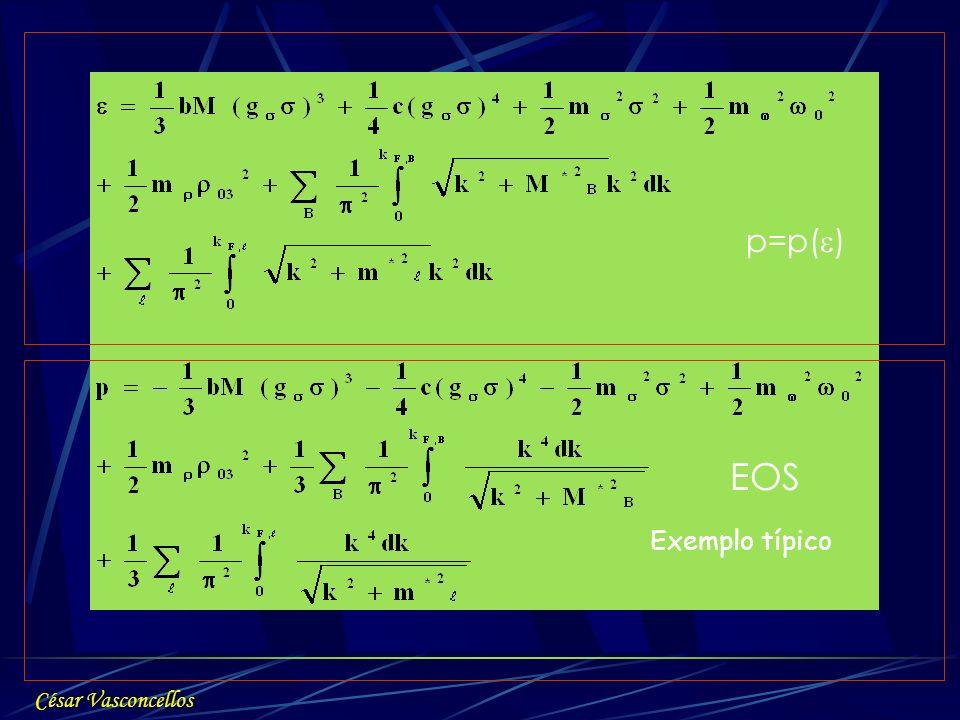 p=p() EOS Exemplo típico César Vasconcellos