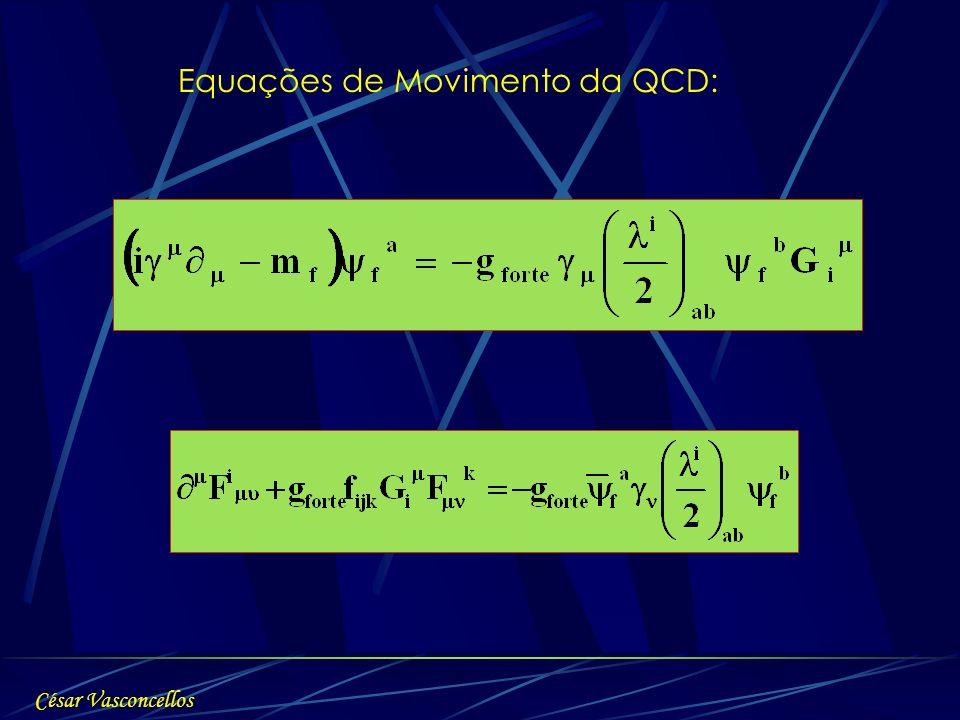 Equações de Movimento da QCD: