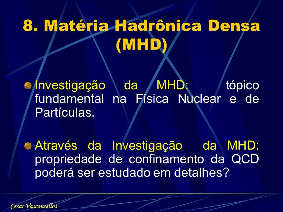 8. Matéria Hadrônica Densa (MHD)