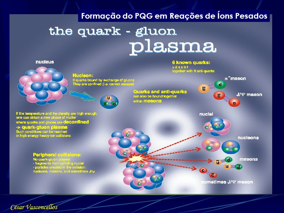 Formação do PQG em Reações de Íons Pesados