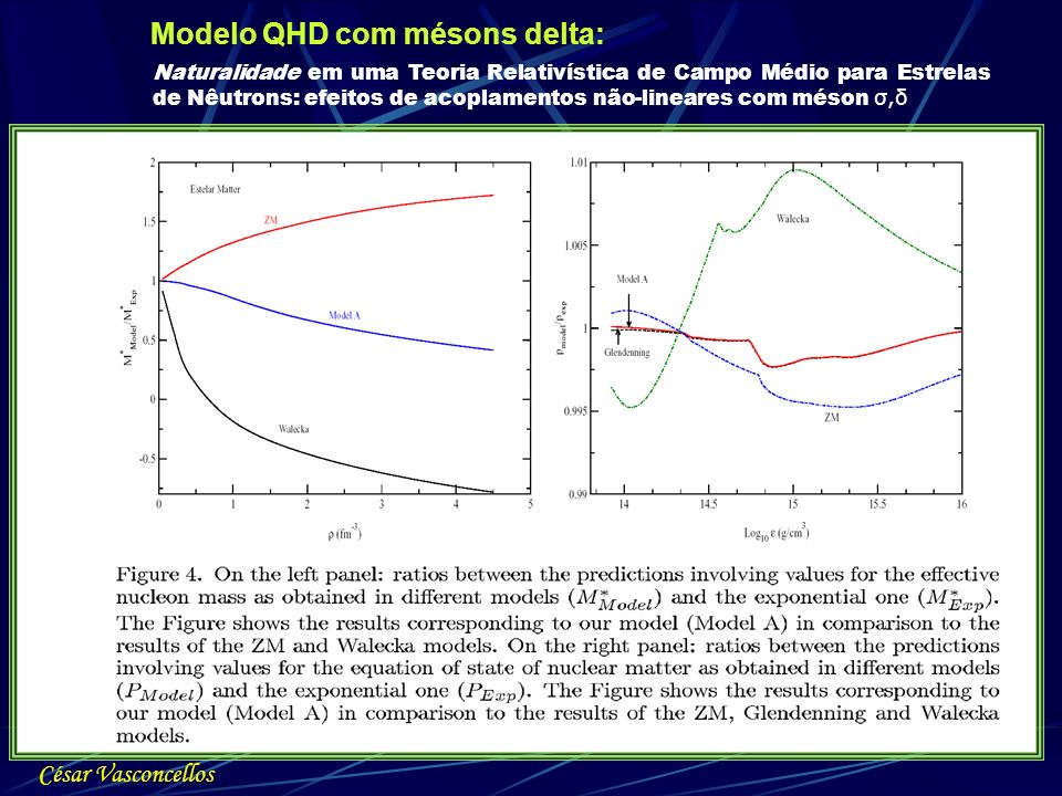 Modelo QHD com mésons delta: