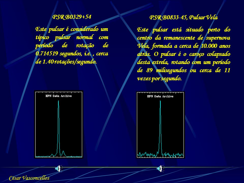 PSR B0329+54 PSR B0833-45, Pulsar Vela