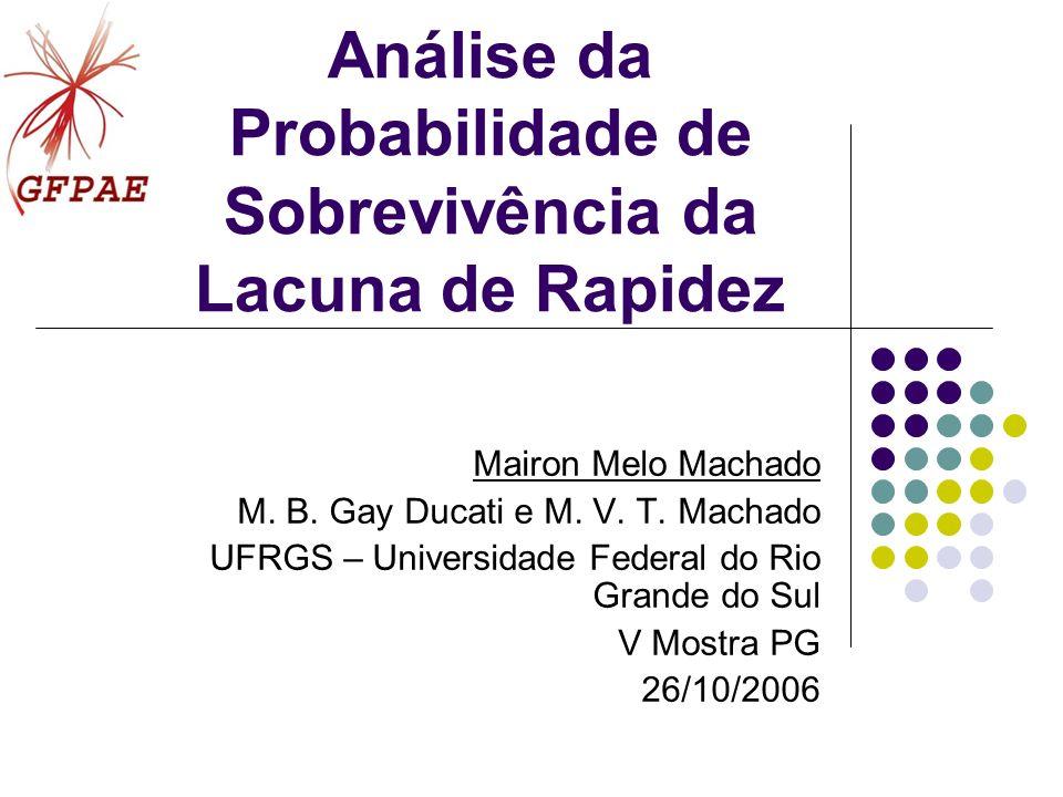 Análise da Probabilidade de Sobrevivência da Lacuna de Rapidez