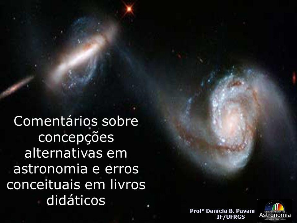 Comentários sobre concepções alternativas em astronomia e erros conceituais em livros didáticos