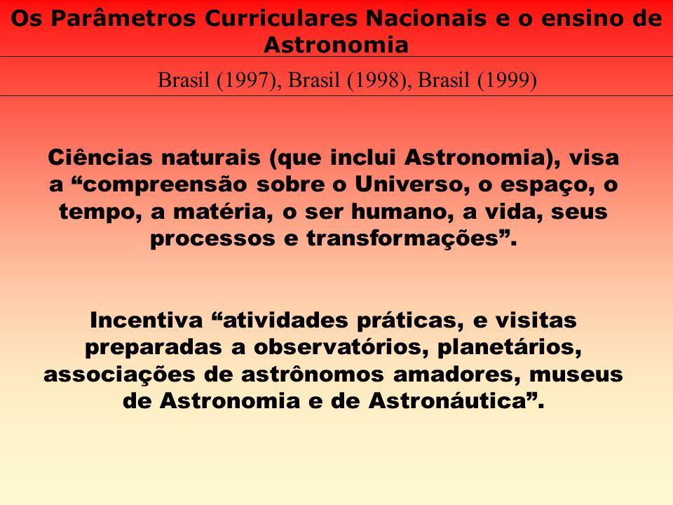 Os Parâmetros Curriculares Nacionais e o ensino de Astronomia