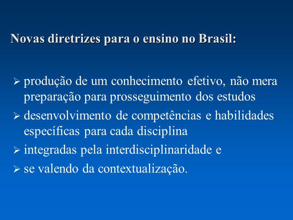 Novas diretrizes para o ensino no Brasil: