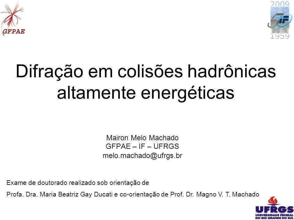 Difração em colisões hadrônicas altamente energéticas