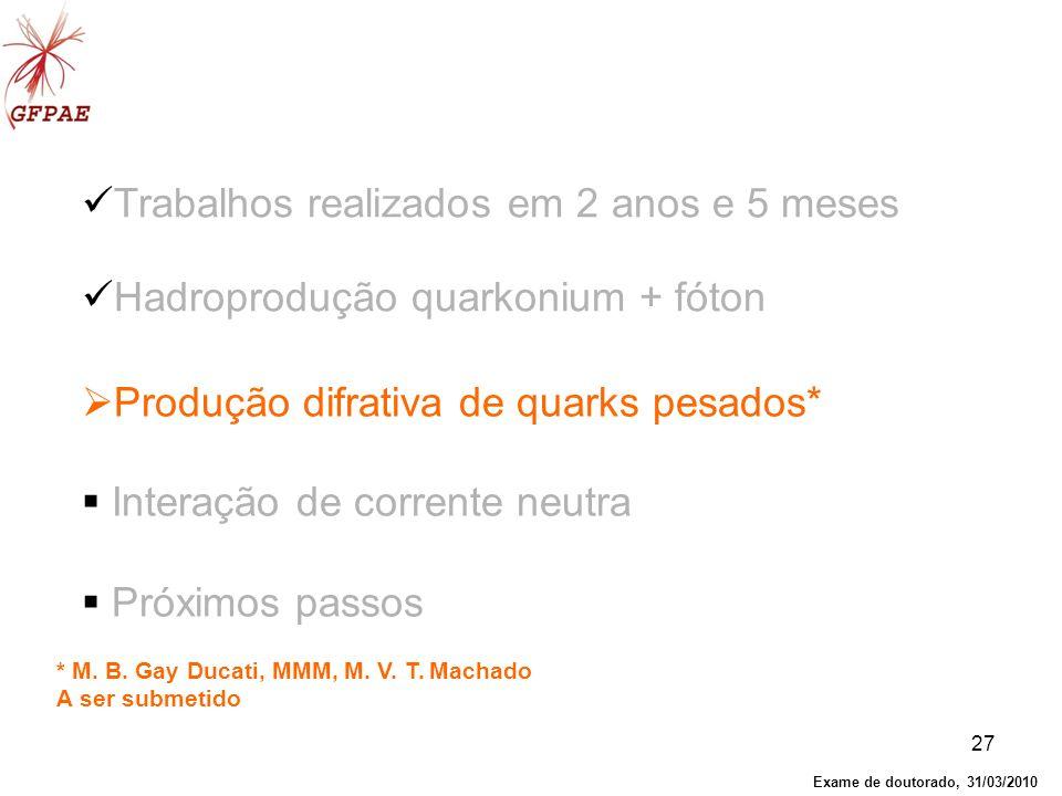 Produção difrativa de quarks pesados* Interação de corrente neutra