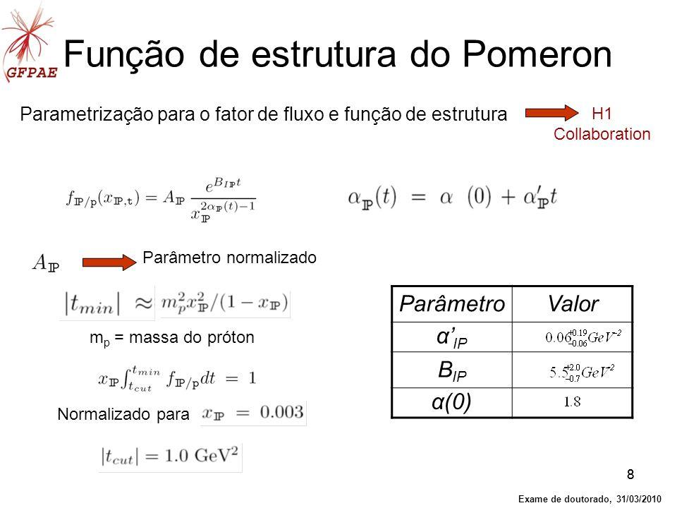 Função de estrutura do Pomeron