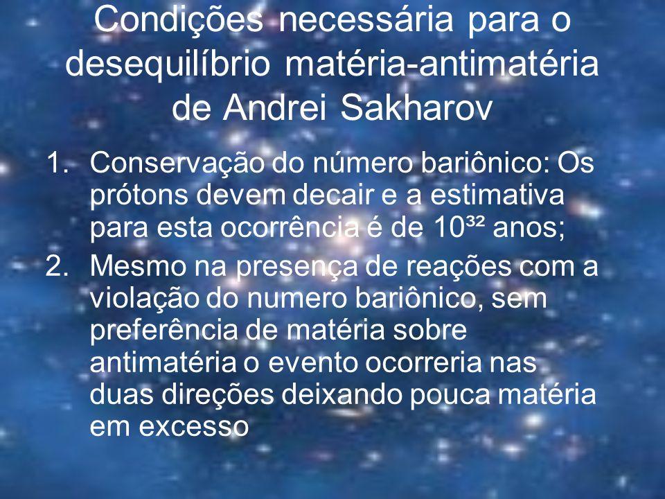 Condições necessária para o desequilíbrio matéria-antimatéria de Andrei Sakharov