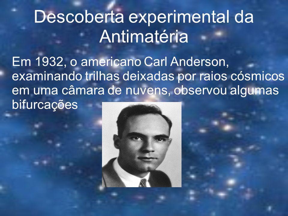 Descoberta experimental da Antimatéria