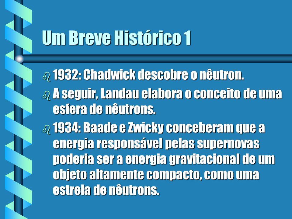 Um Breve Histórico 1 1932: Chadwick descobre o nêutron.