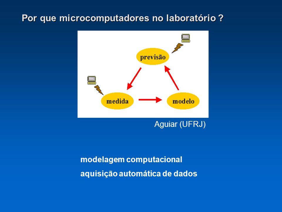 Por que microcomputadores no laboratório