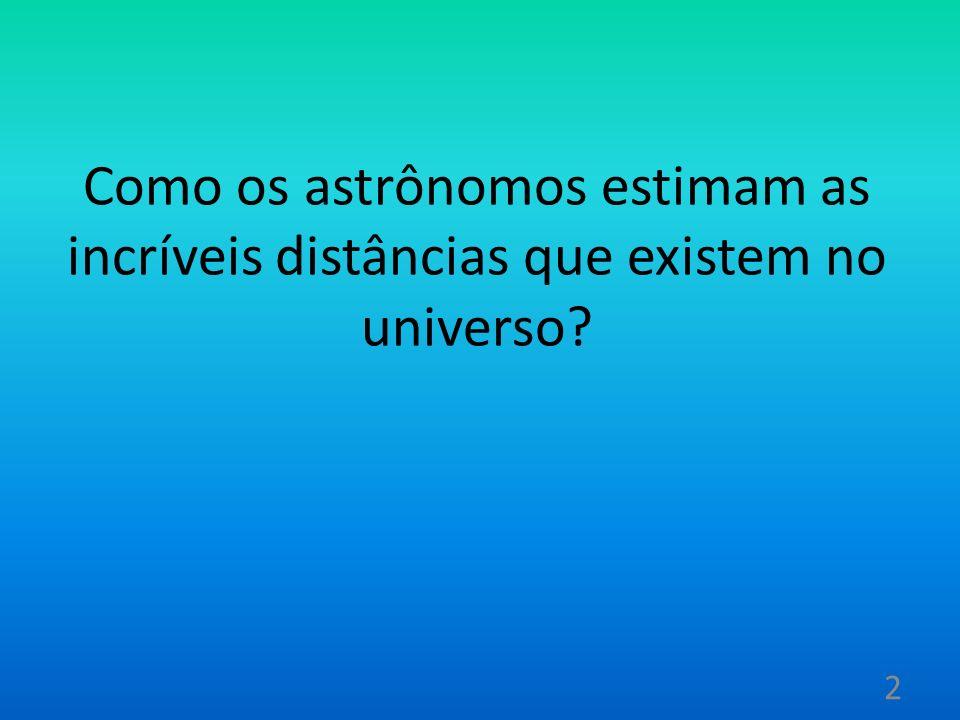Como os astrônomos estimam as incríveis distâncias que existem no universo
