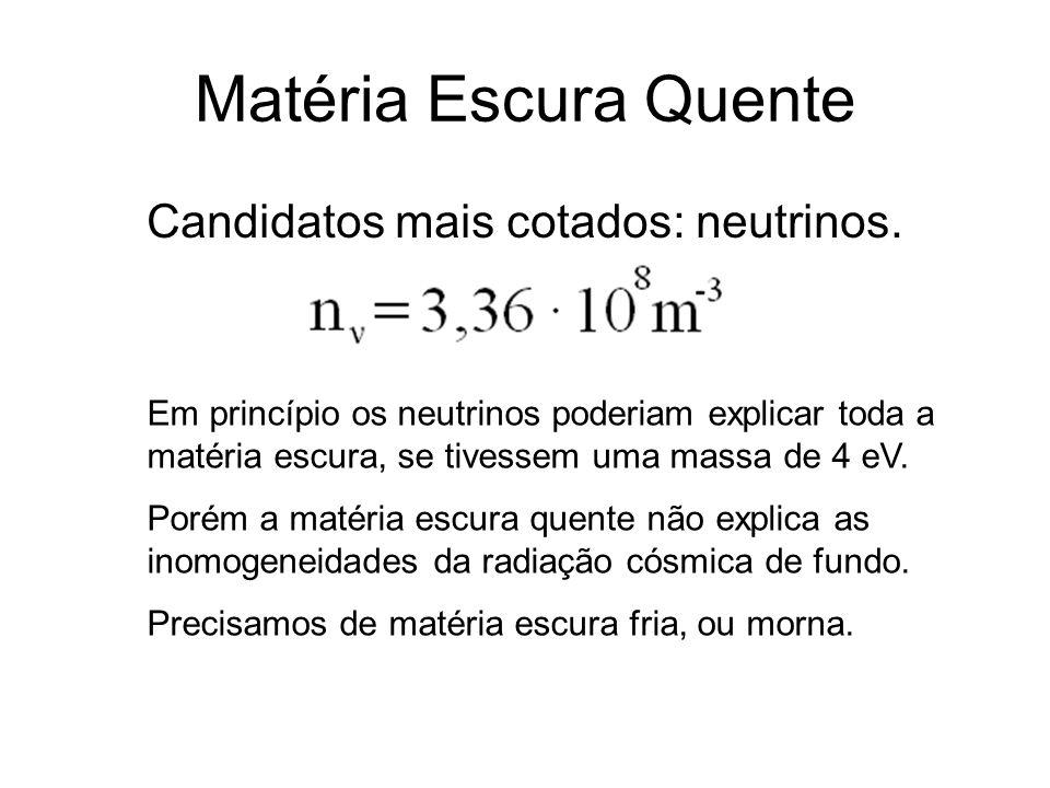 Candidatos mais cotados: neutrinos.