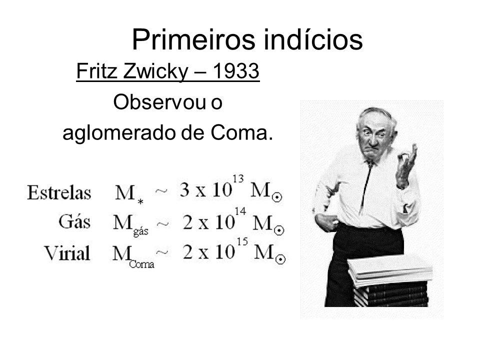 Fritz Zwicky – 1933 Observou o aglomerado de Coma.