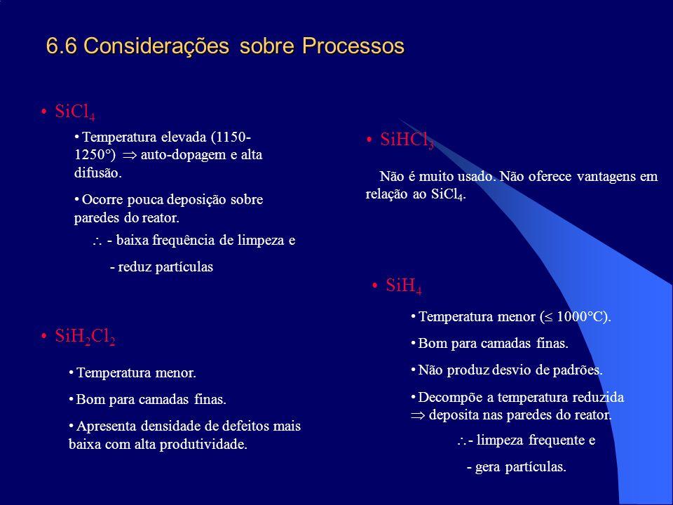 6.6 Considerações sobre Processos