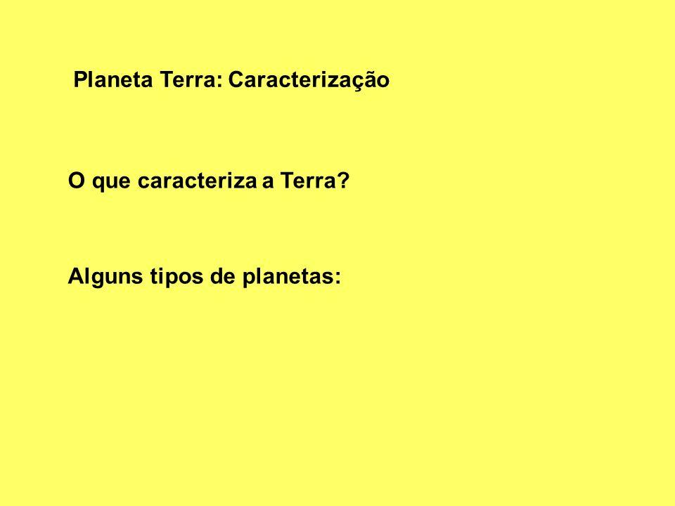 Planeta Terra: Caracterização