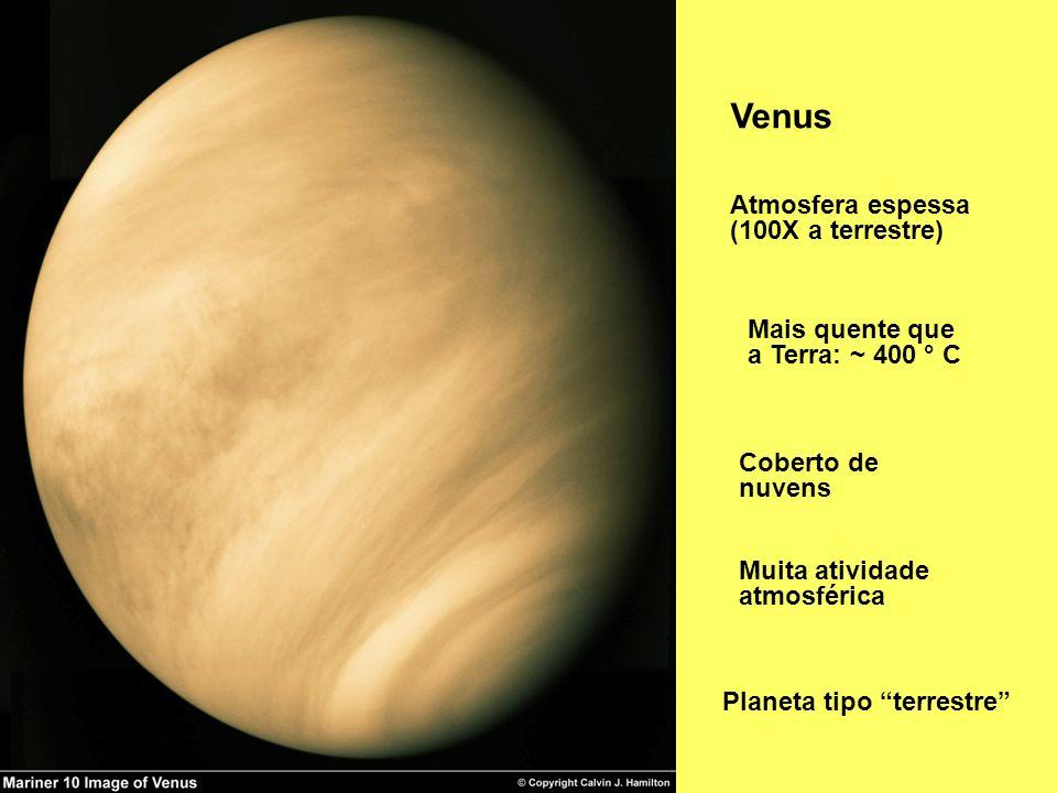 Venus Atmosfera espessa (100X a terrestre)