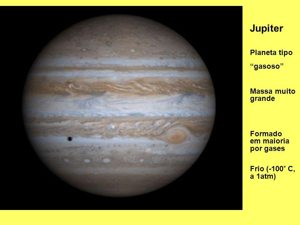 Jupiter Planeta tipo gasoso Massa muito grande