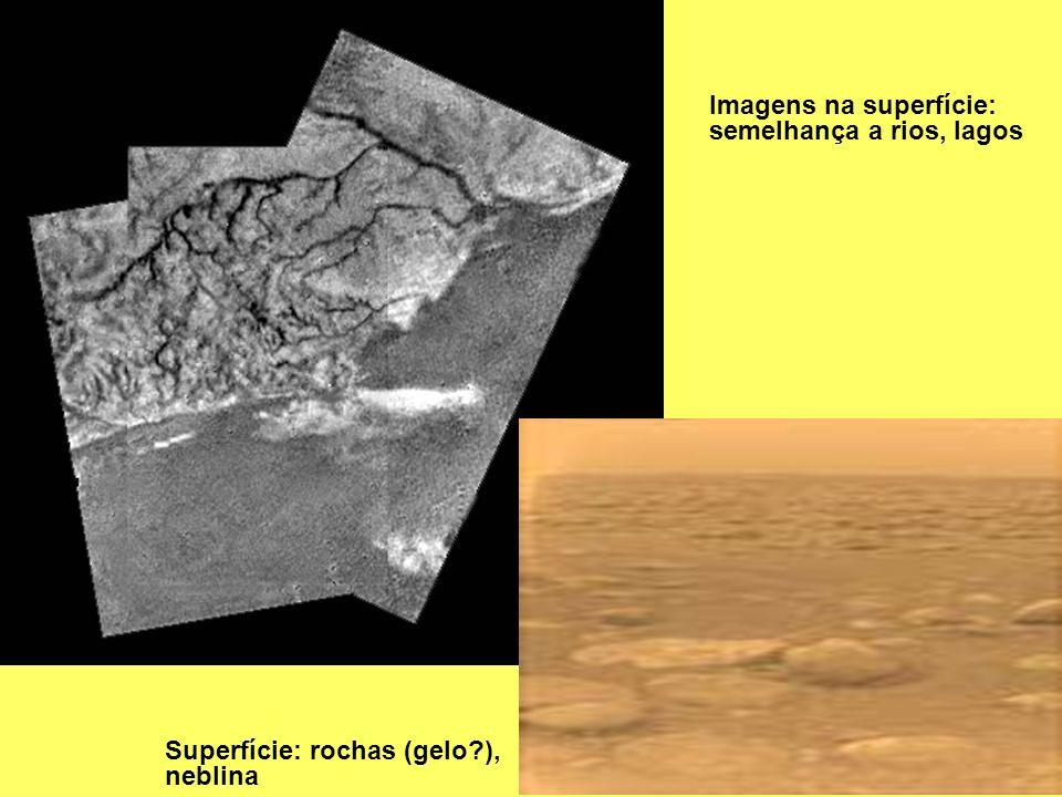 Imagens na superfície: semelhança a rios, lagos
