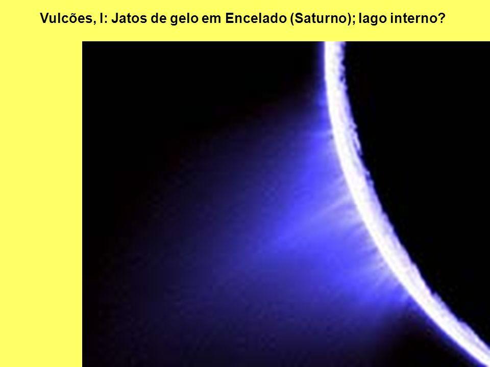 Vulcões, I: Jatos de gelo em Encelado (Saturno); lago interno