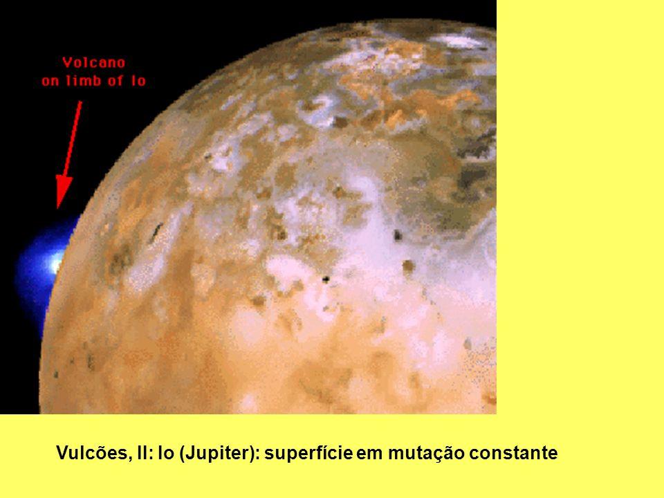 Vulcões, II: Io (Jupiter): superfície em mutação constante