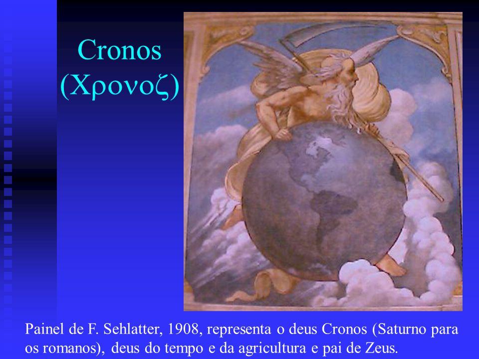 Cronos (Cronoz) Painel de F. Sehlatter, 1908, representa o deus Cronos (Saturno para.