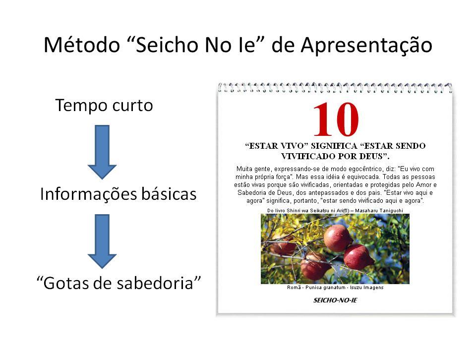 Método Seicho No Ie de Apresentação