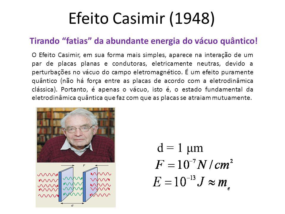 Efeito Casimir (1948)Tirando fatias da abundante energia do vácuo quântico!
