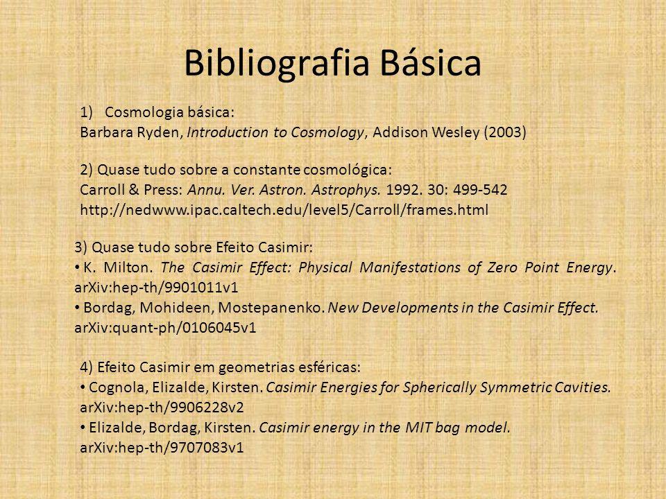 Bibliografia Básica Cosmologia básica: