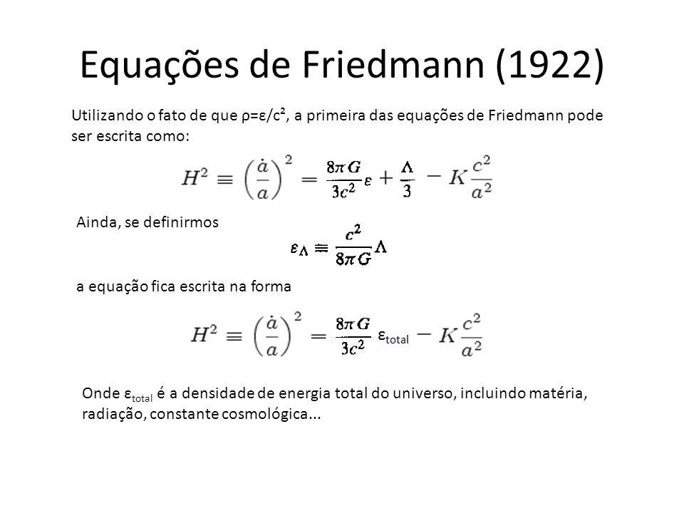 Equações de Friedmann (1922)