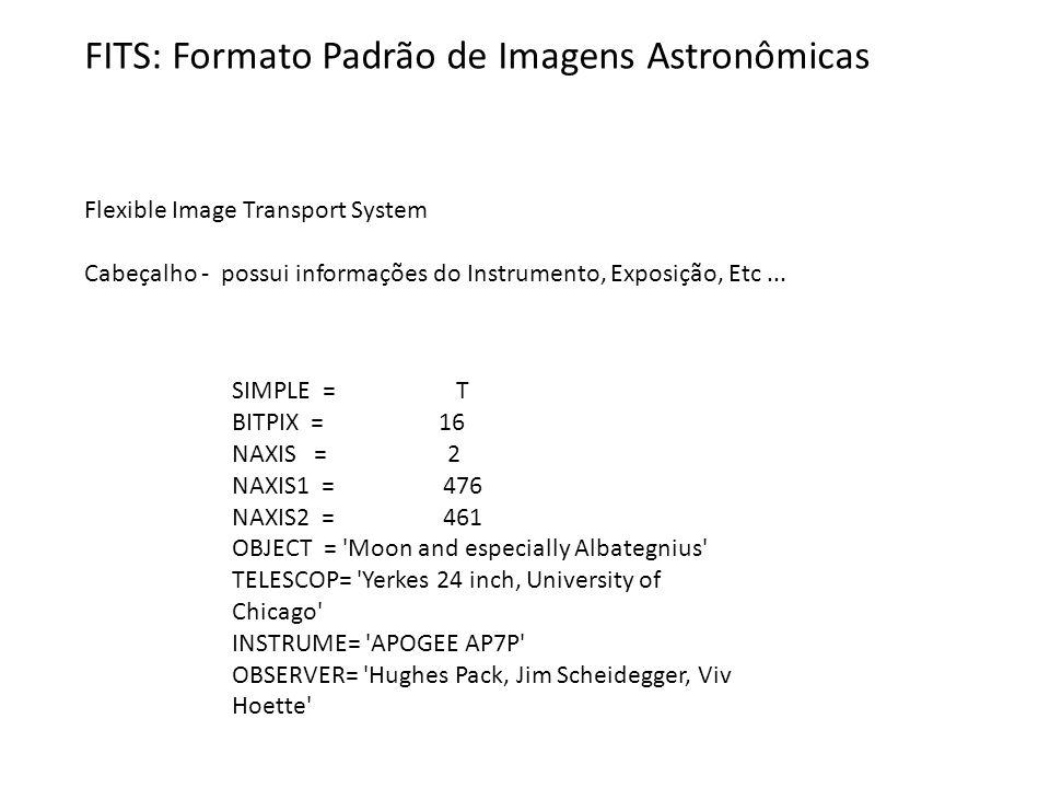 FITS: Formato Padrão de Imagens Astronômicas